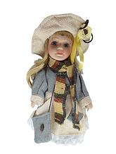 Кукла фарфоровая коллекционная Виктория высота 20 см в подарочной коробке