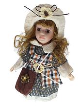 Лялька сидяча порцеляновий Христина висота 20 см в подарунковій коробці
