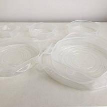 Набір силіконових кришок для посуду 6 шт універсальні. Колір: зелений, фото 2