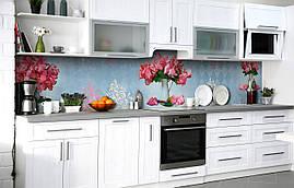 Кухонний фартух 3Д плівка Гортензія в глечику Вензель фотодрук наклейка на стіну 60х250см букети Квіти