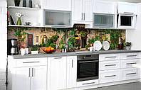 Кухонний фартух 3Д плівка Дворик Верони фотодрук наклейка на стіну 60х250см Архітектура, фото 1