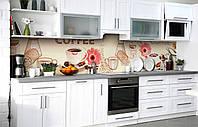 Самоклеющаяся Пленка для Фартука  Отпечаток кофе наклейка на стену 60х250см кофе, фото 1