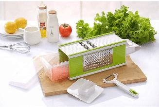 9 в 1! Багатофункціональна терка-овочерізка з контейнером basket vegetable cutter побутової подрібнювач