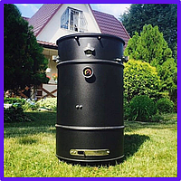 Барбекю гриль BARREL UDS 100L вертикальный цилиндрический смокер, многофункциональный коптильный мангал