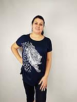 Костюм женский БАТАЛ, туника+бриджи (52-58) Турция купить от склада 7 км Одесса, фото 1