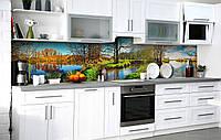 Самоклейка Плівка для фартуха Весняні плавні наклейка на стіну 60х250см Пейзаж, фото 1