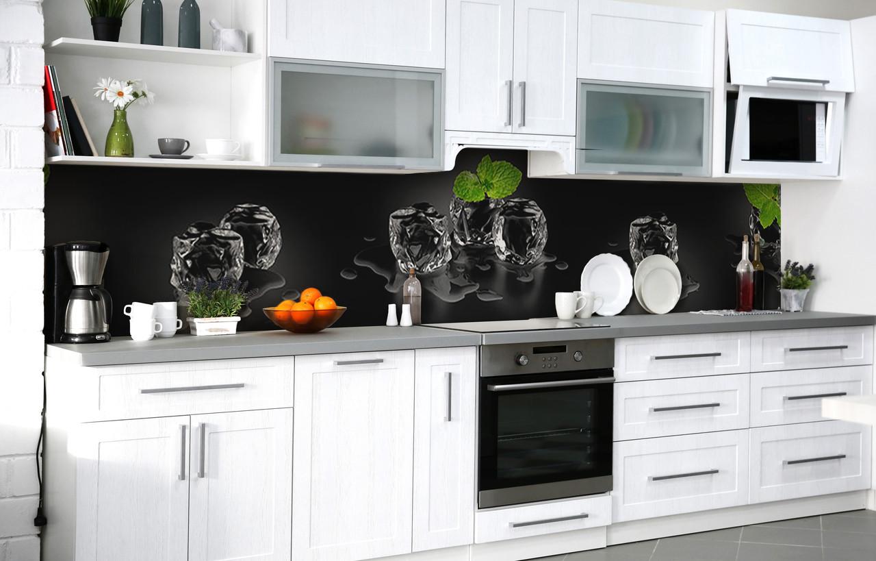 Кухонный фартук 3Д пленка Тающая мята фотопечать наклейка на стену 60х250см Абстракция