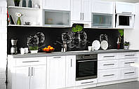 Кухонный фартук 3Д пленка Тающая мята фотопечать наклейка на стену 60х250см Абстракция, фото 1