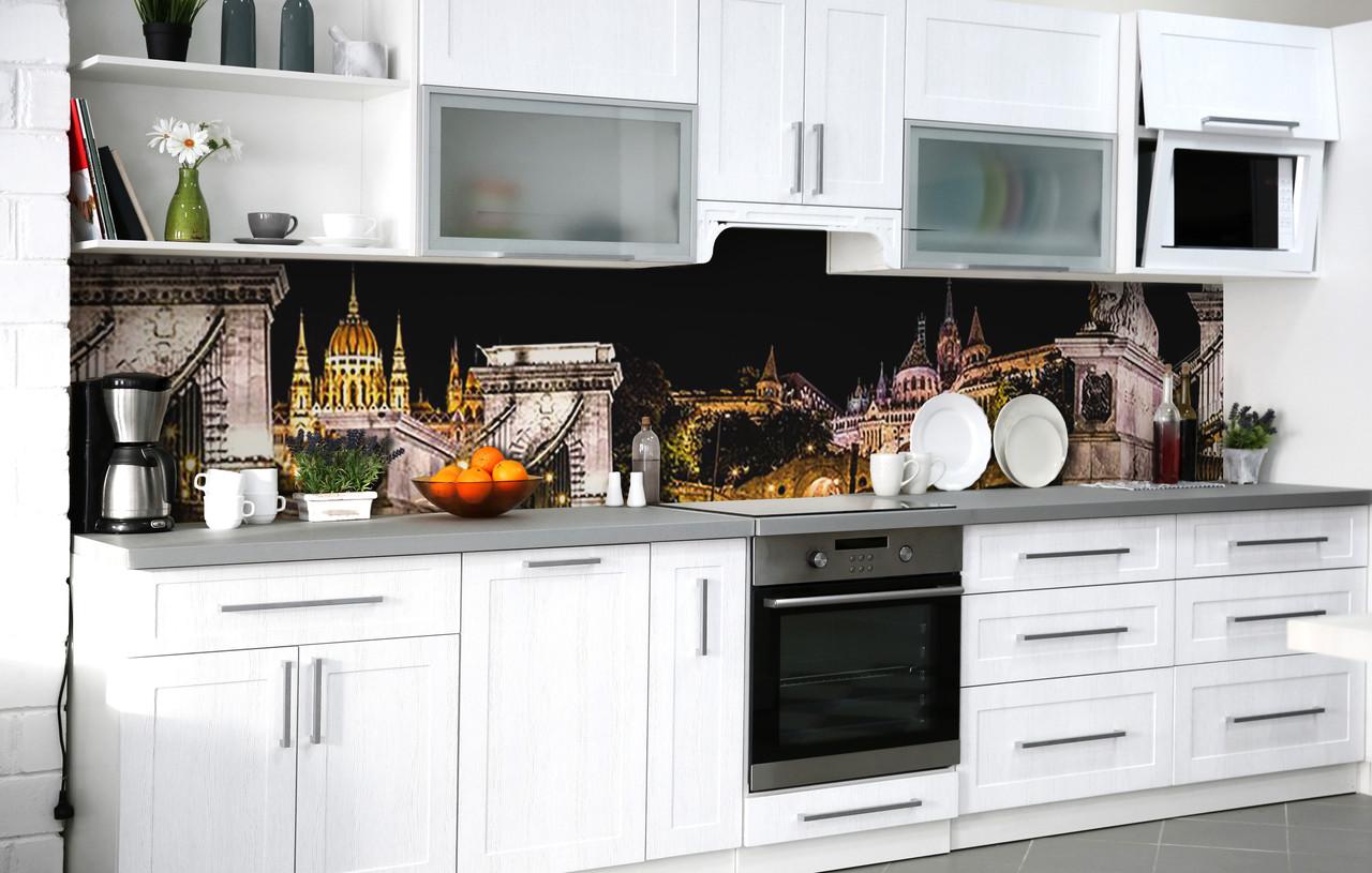Кухонный фартук 3Д пленка Страж мостов фотопечать наклейка на стену 60х250см Архитектура