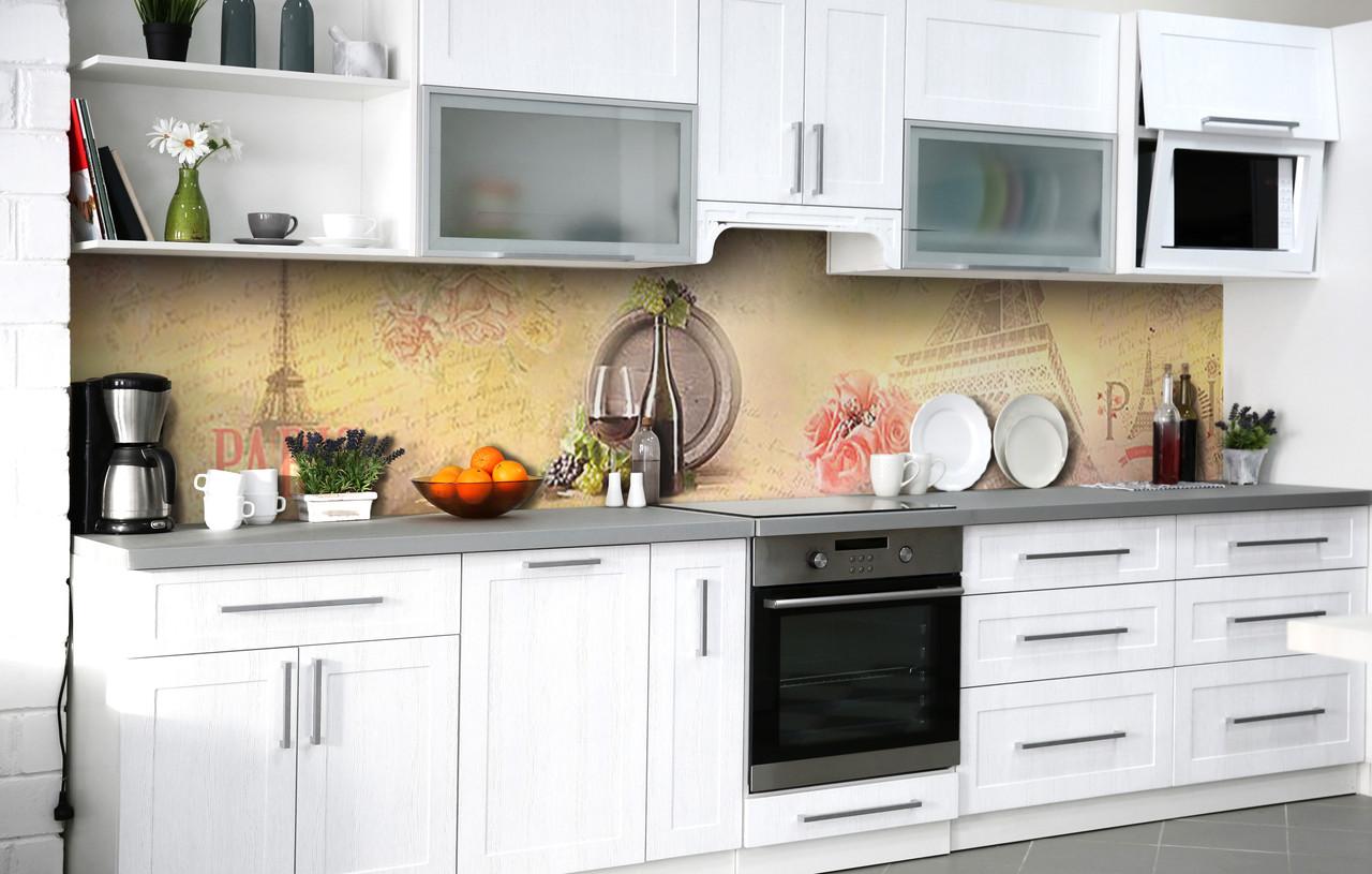 Кухонный фартук 3Д пленка Хмельное настроение фотопечать наклейка на стену 60х250см Абстракция