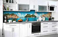 Кухонний фартух 3Д плівка Чари Італії фотодрук наклейка на стіну 60х250см пейзаж, фото 1