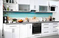 Самоклеюча Плівка для Фартуха Морські зірки наклейка на стіну 60х250см Море, фото 1
