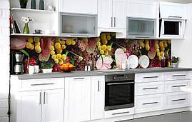 Самоклейка Плівка для фартуха Пишний букет Мімоза незвичайних квітів наклейка на стіну 60х250см Квіти Жовтий