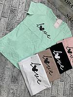 """Женская летняя футболка фирмы """"BELLA """"размер 44-46,цвет уточняйте при заказе"""