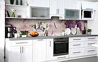 Самоклеющаяся Пленка для Фартука  Сиреневая радость наклейка на стену 60х250см Цветы, фото 1