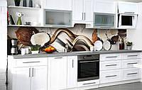 Самоклейка Плівка для фартуха Кокосове насолоду наклейка на стіну 60х250см Абстракція, фото 1