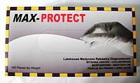 Перчатки латексные неопудренные MAX-PROTECT- 100 шт