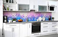 Самоклеющаяся Пленка для Фартука Лавандовые облака наклейка на стену 60х250см Цветы