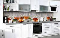 Самоклейка Плівка для фартуха Чай з бергамотом наклейка на стіну 60х250см Напої, фото 1