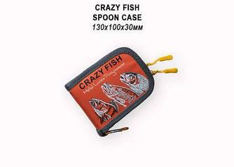 Кошелек для блесен 13х10х3 Crazy Fish Spoon Case (Orange)