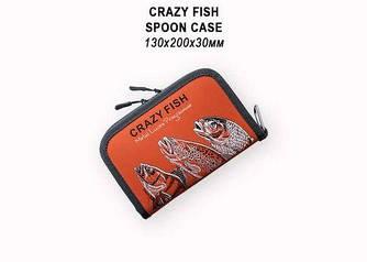 Кошелек для блесен 13х20х3 Crazy Fish Spoon Case (Orange)