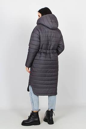 Тёплый женский длинный пуховик зимний, большого размера от 44 до 58, фото 2