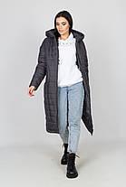 Тёплый женский длинный пуховик зимний, большого размера от 44 до 58, фото 3