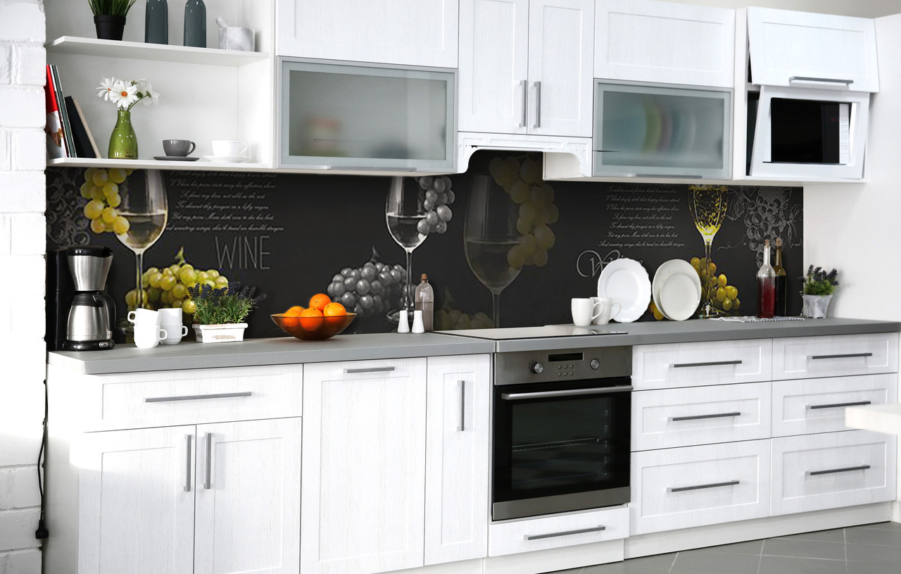 Кухонний фартух 3Д плівка Елегантний смак фотодрук наклейка на стіну 60х250см Напої