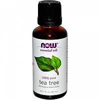 Масло чайного дерева эфирное, Now Foods Essential Oils, 30 мл