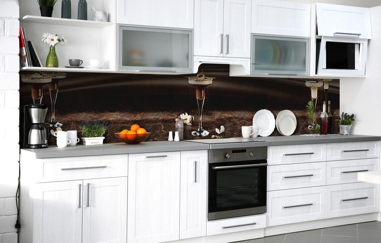 Кухонний фартух 3Д плівка зефірної фондю фотодрук наклейка на стіну 60х250см Їжа