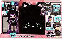 Набор Na Na Na Surprise Рюкзачок-кошечка / Na Na Na Surprise Backpack Bedroom Playset Black Fuzzy Kitty, фото 1