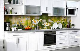 Самоклеющаяся Пленка для Фартука  Ромашковые луга наклейка на стену 60х250см Цветы