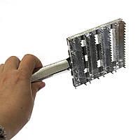 Щітка шкребок-чесалка для чищення худоби (корів) з оцинкованої сталі 22 см