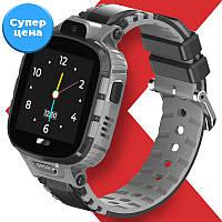 Детские смарт часы-телефон JETIX DF45 Anti Lost Edition влагозащищенные для ребенка (Black)