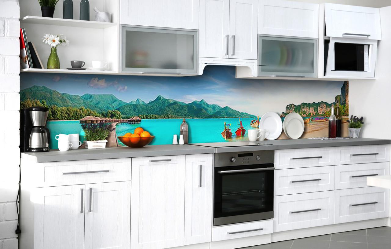 Кухонний фартух 3Д плівка Гавань Індійського океану фотодрук наклейка на стіну 60х250см Пейзаж