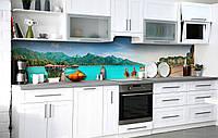 Кухонний фартух 3Д плівка Гавань Індійського океану фотодрук наклейка на стіну 60х250см Пейзаж, фото 1