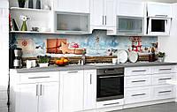 Кухонний фартух 3Д плівка Новорічні чудеса фотодрук наклейка на стіну 60х250см Текстура, фото 1