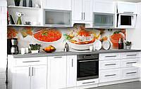 Кухонный фартук 3Д пленка Икорное изобилие фотопечать наклейка на стену 60х250см Еда, фото 1