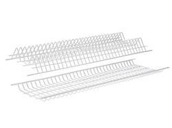 Сушка для посуду фасад 400 GIFF білий (2 полиці, 1 піддон і 8 кріплень)