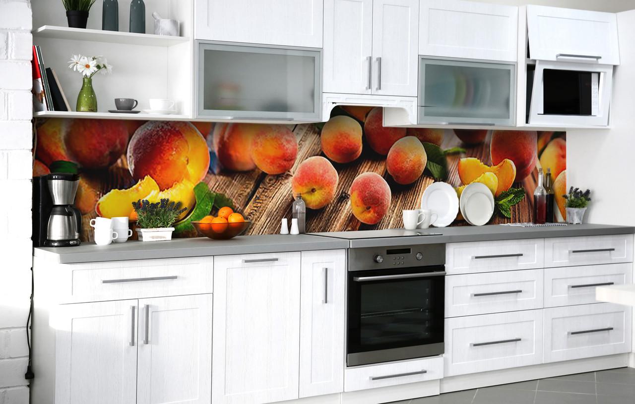 Кухонний фартух 3Д плівка Стиглі плоди фотодрук наклейка на стіну 60х250см Їжа