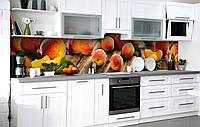Кухонний фартух 3Д плівка Стиглі плоди фотодрук наклейка на стіну 60х250см Їжа, фото 1