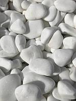 Декоративный камень Галька белая Мрамор, Турция