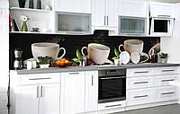 Кухонний фартух 3Д плівка Кавовий шлейф фотодрук наклейка на стіну 60х250см Кава, фото 1