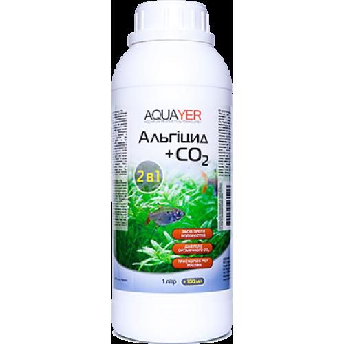 AQUAYER Альгіцид+СО2 1 л  препарат проти червоних, бурих та зелених точечних водоростей