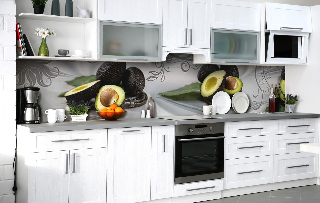 Кухонный фартук 3Д пленка Авокадо хасс фотопечать наклейка на стену 60х250см Еда