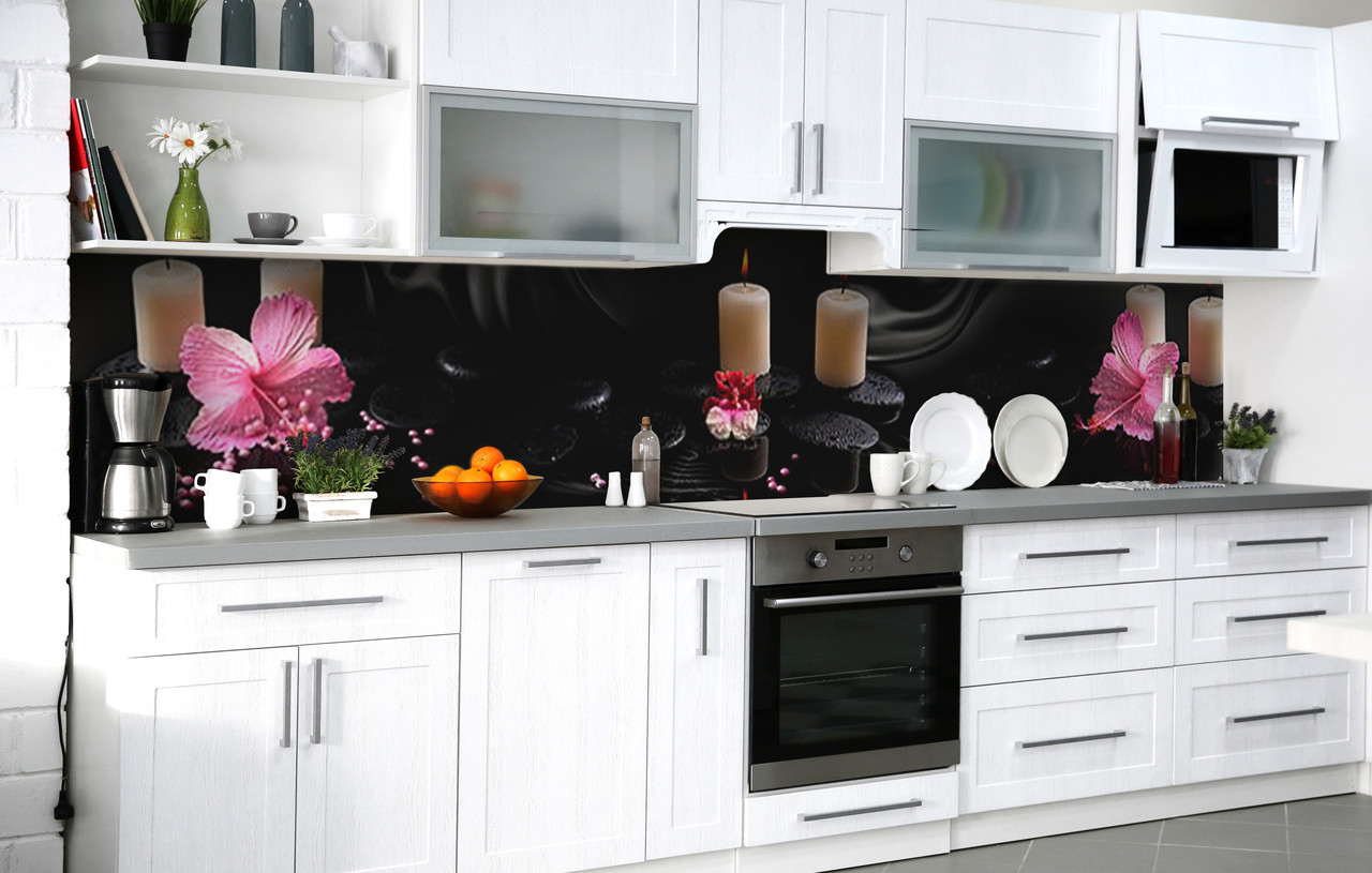 Кухонний фартух 3Д плівка зігріває тепло фотодрук наклейка на стіну 60х250см Абстракція