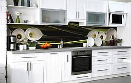 Самоклеющаяся Пленка для Фартука  Белые каллы стебли наклейка на стену 60х250см Цветы Зеленый