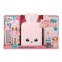 Набор Na Na Na Surprise Рюкзачок-зайчик розовый / Na Na Na Surprise Backpack Bedroom Playset Pink Fuzzy Bunny, фото 1
