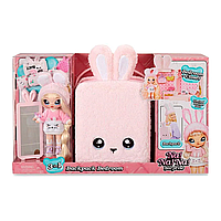 Набор Na Na Na Surprise Рюкзачок-зайчик розовый / Na Na Na Surprise Backpack Bedroom Playset Pink Fuzzy Bunny