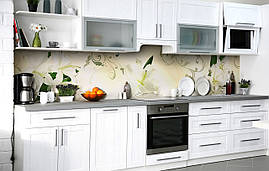 Кухонний фартух 3Д плівка Дівоча лілія фотодрук наклейка на стіну 60х250см Квіти